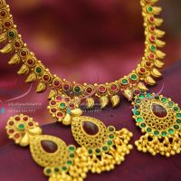 antique-gold-plated-fashion-artificial-jewellery-online-kemp-stones-traditional-mango-design