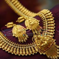 Temple_Jewelry_Laxmi_Pendant_Long_Necklace_Traditional_Haaram