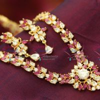 Indian_Traditional_Fashion_Imitation_Jewelry_Ruby_Emerald_Jewellery_Long_Necklace_Gold_Plated_Earrings