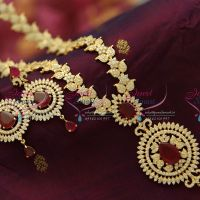 traditional-mango-design-round-pendnat-long-haram-gold-plated-fine-jewellery-online
