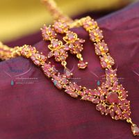 Indian-Traditional-Fashion-Imitation-Jewelry-Ruby-Emerald-Jewellery-Long-Necklace-Gold-plated