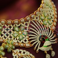 cz-peacock-ruby-stone-meena-enamel-grand-choker-dulhan-wedding-jewelry-offer-price-online