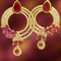 one-gram-gold-plated-jewellery-ruby-american-diamond-grand-dulhan-earrings-online-sales