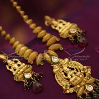 temple-jewellery-antique-indian-traditional-gold-plated-laxmi-god-pendant-online