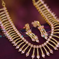 diamond-finish-stylish-trendy-gold-plated-cz-necklace-traditional-design-jewellery-online-fashion-collections
