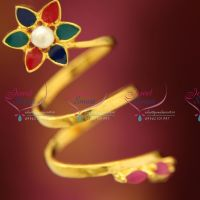 roll-design-twisted-adjustable-floral-painted-ruby-stones-painted-colourful-finger-rings-shop-online