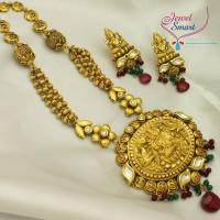 50e139a8c4f Temple Jewelry Long Necklace Earrings Gold Antique Imitation ·  Temple Jewelry Gold Antique Imitation Long Necklace Earrings