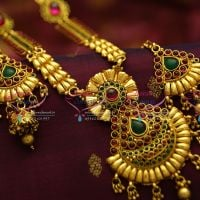 indian-traditional-temple-antique-jewellery-haram-long-necklace-real-look-latest-new-designs