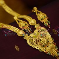 gold-design-forming-one-gram-plated-handmade-long-necklace-haram-south-traditional-jewellery