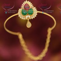 ruby-emerald-cz-fancy-south-indian-traditional-hand-jewellery-string-vanki-aravanki-collections-online