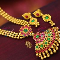 south-indian-traditional-attigai-3-strand-beads-mala-attigai-kemp-jewellery-screwback-earrings
