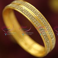white-stones-gold-plated-bangles-two-lines-fancy-design-buy-online