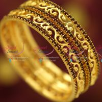 maroon-stones-gold-plated-2-pieces-set-bangles-casual-wear-long-colour-life-bangles-fancy-design