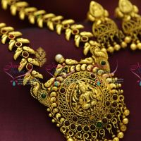 antique-gold-plated-nakshi-indian-traditional-temple-laxmi-god-design-haram-long-necklace