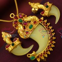 gold-plated-traditional-tiger-nail-vaagh-nakh-design-pendant-jewellery-set-ethnic-buy