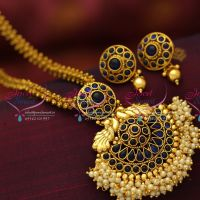 peacock-ntique-gold-plated-ghajiri-chain-fancy-mala-pendant-fashion-jewellery-necklace-buy-online-offer