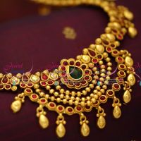 latest-south-indian-design-multi-strand-beads-hip-chain-antique-gold-plated-fashion-jewellery