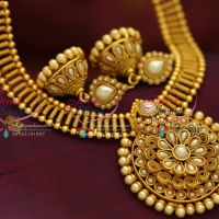 antique-yellow-gold-south-indian-traditional-trendy-temple-kemp-jewellery-necklace-online