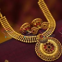 antique-gold-south-indian-traditional-trendy-kemp-jewellery-necklace-jhumki-online