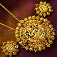 antique-gold-plated-nagas-nakshi-pendant-earrings-traditional-jewellery-buy-online