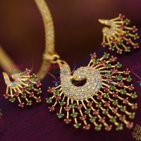 peacock-design-cz-gold-plated-pendant-earrings-stone-filled-chain-buy-online-offer