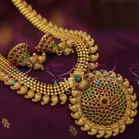 antique-gold-plated-mango-haram-traditional-south-indian-jewellery-online-store
