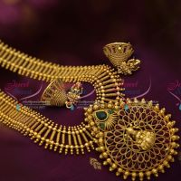 antique-gold-plated-temple-haram-traditional-south-indian-jewellery-online-store