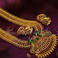antique-plated-enamel-peacock-haram-traditional-south-indian-jewellery-online-store