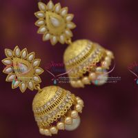latest-south-indian-temple-antique-mat-finish-plating-jhumka-pearl-drops-buy-online
