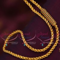 ruby-emerald-mugappu-thali-kodi-chain-24-inches-4mm-chains-gold-plated-guaranteed-jewellery