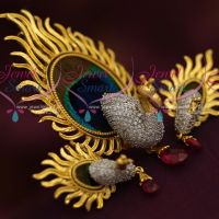 peacock-feathers-design-gold-plated-3d-emboss-cz-fashion-pendant-set-online