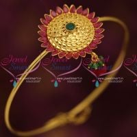 ruby-emerald-fancy-south-armlet-traditional-hand-jewellery-string-vanki-aravanki-collections-online