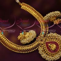 pearl-danglers-temple-jewellery-one-gram-gold-plated-necklace-jhumka-stylish-trendy-jewellery
