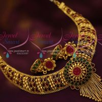 one-gram-gold-plated-necklace-jhumka-stylish-trendy-jewellery-kemp-red-green
