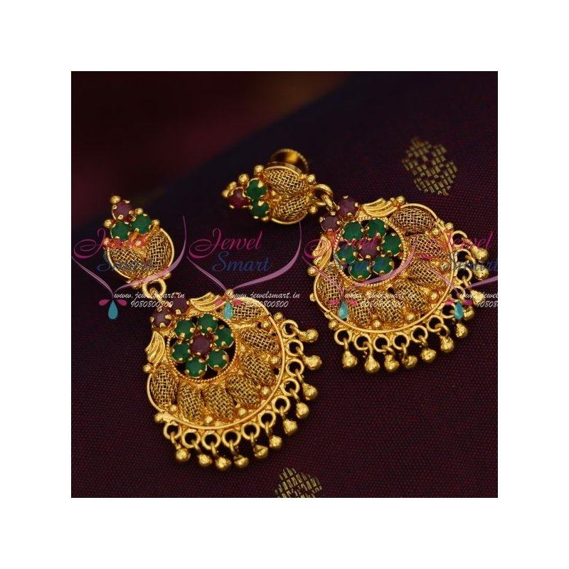 Lovely AD & Ruby Peacock Necklace Set - Mokshi Collections - 1553604