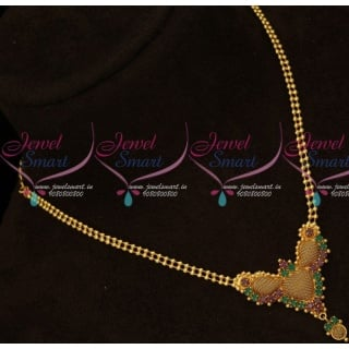 2 Line Gold Ball Chain Pendant South Indian Daily Use Covering Jewellery Online PS15950A