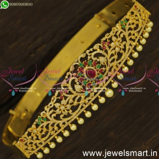 23 to 29 Inches Oddiyanam for Girls Gold Plated Diamond Indian Bridal Jewellery H24425
