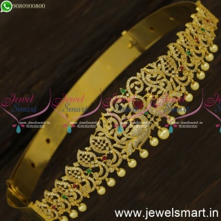 23 to 29 Inches Vaddanam for Girls Gold Plated Diamond Finish OddiyanamH24424