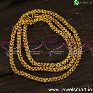 24 Inches Unique Dotted Square One Gram Gold Chains Guaranteed Jewellery