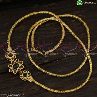 24 Inches Kemp Mugappu Chain At Wholesale Prices Festival Sale Gold Designs Online C22866