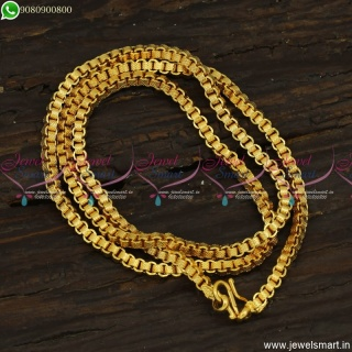 24 Inches Square Link Catalogue Gold Plated Chains Online C23510