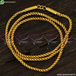 24 Inches Thali Chain Designs Murukku Or Twisted Regular With Capsule Cup End C23511