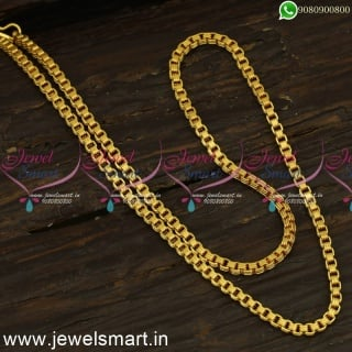 24 Inches Thanga Sangili Gold Chain Designs for Men Latest Daily Wear Jewellery