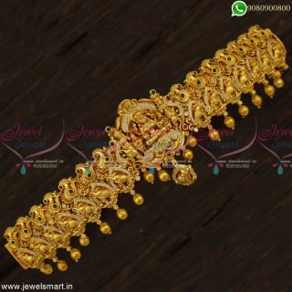 30 to 40 Inches Bahubali Style Temple Hip Belt Oddiyanam Indian Bridal Jewellery Peacocks and Elephants H23070