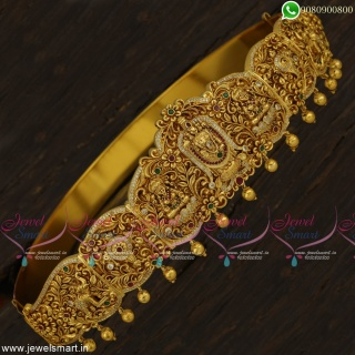 30 to 42 Inches Lord Balaji Temple Oddiyanam Belt Bridal Jewellery Designs H23343