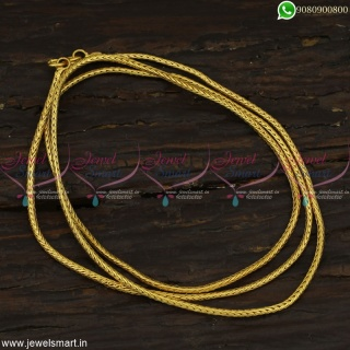 30 Inches 2 MM Thali Kodi Gold Chain Models Daily Use Artificial Jewellery Online C23000