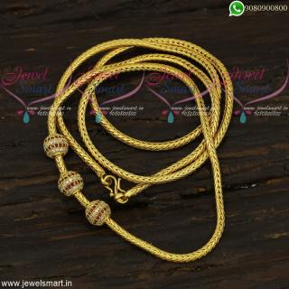 30 Inches Gold Design Chain Ball Mugappu Thali Model Buy Online C21966