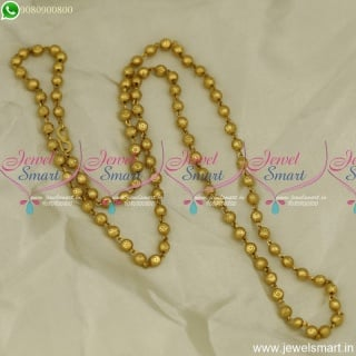 30 Inches Long Gold Chain Designs Beads Model Daily Wear Jewellery Online C23864