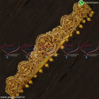 31-41 Inches Fabulous Design Bridal Oddiyanam Indian Temple Jewellery Newest Models Online H22905