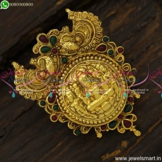 3D Embossed Temple Jewellery Antique Reddish Pendant Design Online Shopping PS23906